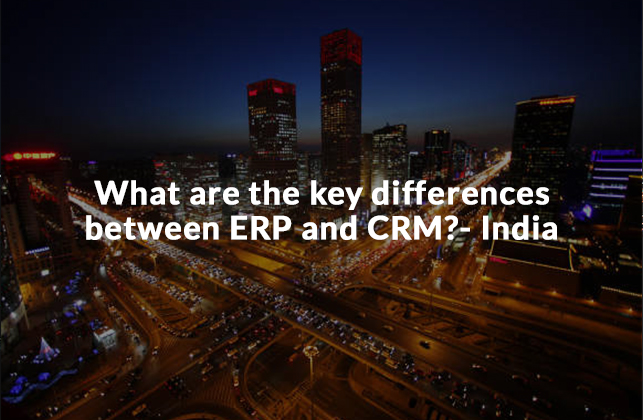 ERP, CRM, automation, efficiency, technology, differences